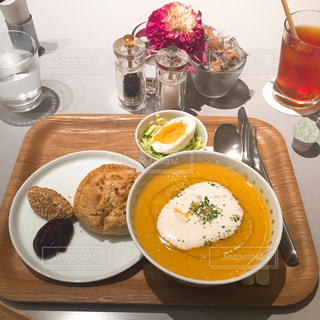 ランチ,スコーン,スープ,あんこ,TORAYA CAFE,トラヤカフェ