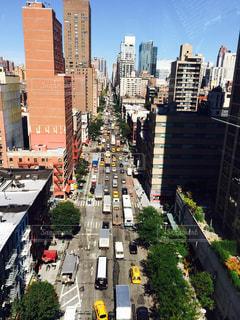 ニューヨーク,街並み,車,アメリカ,NY,マンハッタン,海外旅行,摩天楼