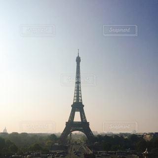 空,海外,太陽,朝日,光,朝焼け,フランス,パリ,エッフェル塔,朝,日の出,トリコロール