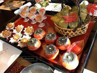 秋,紅葉,栗,テーブル,美食,秋の味覚,食欲の秋