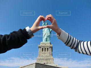 ニューヨーク,海外,アメリカ,ハート,外国,自由の女神,二人