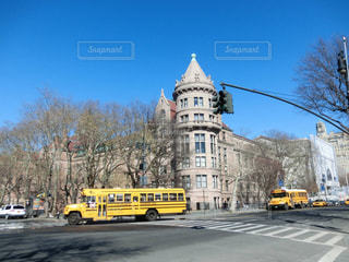 ニューヨーク,黄色,アメリカ,子供,レトロ,観光,学校,スクールバス
