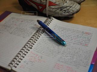 ノート,サッカー,書類,勉強,ペーパー,紙,受験,シューズ,データ,文武両道