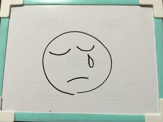 イラスト,絵,悲しい,ホワイトボード,涙