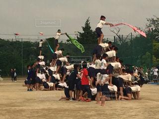 空中に凧の飛行の人々 のグループの写真・画像素材[769658]