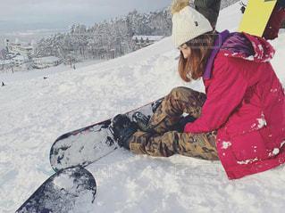 女性,雪,晴れ,人物,ゲレンデ,若者,スノーボード,竜王,ウェア