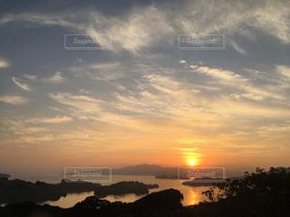 朝日,日の出,長崎,大村湾,オーシャンゴルフ場