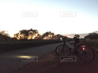 自転車,夕陽,サイクリング,ポタリング,大井川