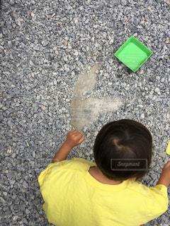 子ども,子供,ハート,こども,砂利,石,息子,手描き,はーと