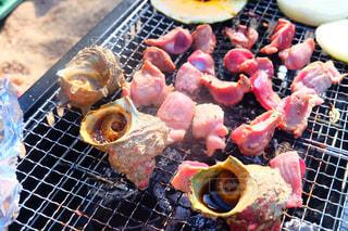 BBQは肉も貝も美味しいの写真・画像素材[1224576]