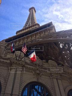 大きな時計塔前パリ ラスベガスの写真・画像素材[1252846]