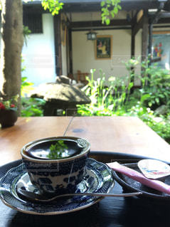 カフェ,夏,コーヒー,緑,島原