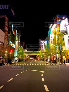 夜,交差点,秋葉原,電気街口