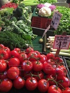 食べ物,風景,海外,カラフル,アメリカ,果物,トマト,野菜,市場,食品,シアトル,マーケット,食材,夏野菜,フレッシュ,ベジタブル,販売