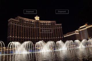 風景,夜景,海外,水,アメリカ,景色,観光,旅行,噴水,ホテル,ラスベガス,海外旅行,ベラージオ,Las Vegas,噴水ショー