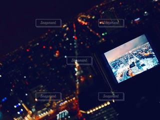 夜の街の景色の写真・画像素材[880767]