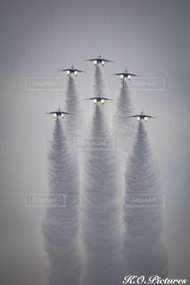 クリスマス,飛行機雲,航空機,戦闘機,ブルーインパルス