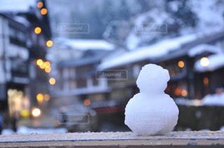 小さな雪だるまの写真・画像素材[1704787]