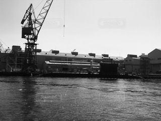 潜水艦修理中。の写真・画像素材[831465]