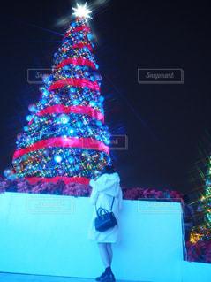 冬,景色,女の子,イルミネーション,キラキラ,クリスマス,思い出,クリスマスツリー,winter,Christmas