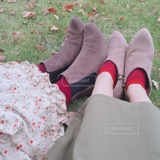おそろい靴下の写真・画像素材[2700055]