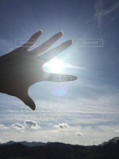 自然,空,太陽,山,光,手のひら,兵庫,エネルギー