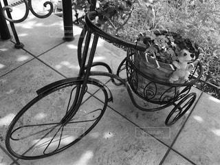 植木鉢を乗せた自転車 - No.736490