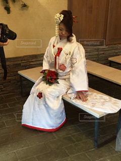 結婚式の前撮りの写真・画像素材[1233272]