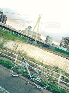 空,自転車,夕暮れ,川,北海道,サイクリング,札幌,豊平川