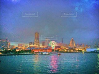 海,夜景,横浜,みなとみらい