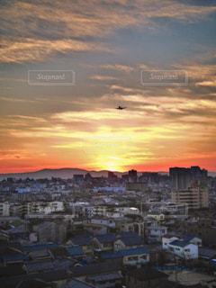 夕日,大阪,景色,初日の出,北摂