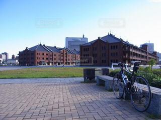 自転車,サイクリング,赤レンガ倉庫,ロードバイク