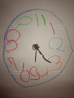 時計,子供,丸,幼児,クレヨン,お絵かき