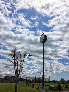 風景,空,公園,飛行機,時計,戦闘機