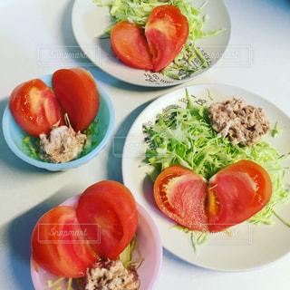 家族,トマト,ハート,サラダ