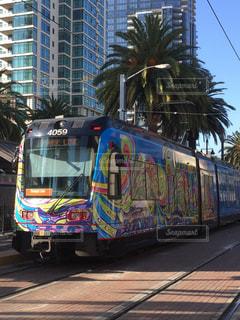 屋外,カラフル,電車,アメリカ,鮮やか,観光,旅行,鉄道,サンディエゴ