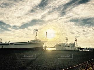 海,太陽,漁船,漁港,仕事,静岡,地方,焼津