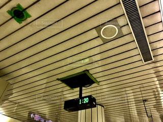 風景,時計,都会,地下鉄,発着
