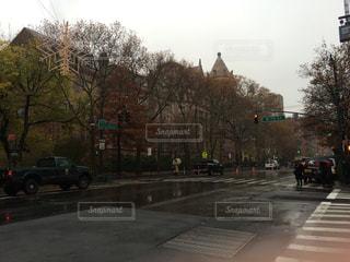 冬,ニューヨーク,アメリカ,クリスマス,信号機,交差点,ニューヨーク州