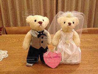 プレゼント,ハート,ぬいぐるみ,人形,ブーケ,結婚,贈り物,熊,ブライダル,ペアー