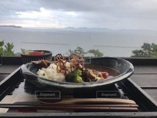 食べ物,空,カレー,レストラン,料理,海の見えるレストラン