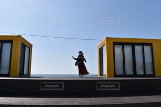 黄色,人物,人,海の見えるレストラン