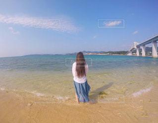 海,空,屋外,後ろ姿,砂浜,海岸,後姿