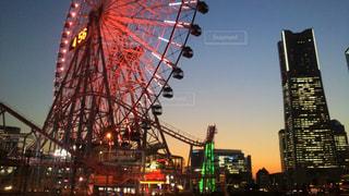空,夕日,横浜