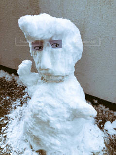 雪に覆われたケーキの写真・画像素材[985562]