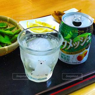 #梅酒 #チョーヤのウメッシュ  #家飲み #日曜の夕餉の写真・画像素材[509809]