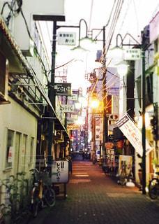 建物,夕方,商店街,蒲田