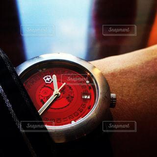 赤,腕時計,時計,ウォッチ,文字盤