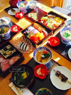 食べ物,テーブル,皿,おせち,お正月