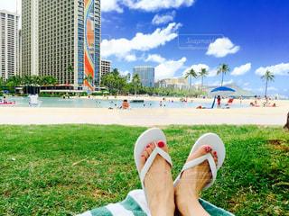 自然,ビーチ,砂浜,海岸,日差し,美しい,ワイキキ,日中